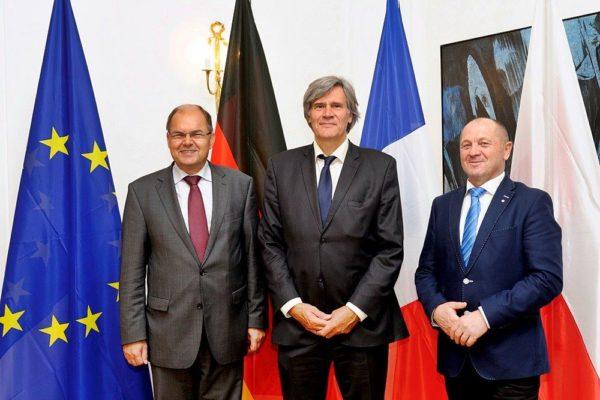 Spotkanie wramach Trójkąta Weimarskiego zfrancuskim ministrem rolnictwa Stéphanem Le Follem orazniemieckim ministrem rolnictwa Christianem Schmidtem