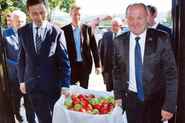 Promocja wspaniałych polskich jabłek zprezesem PSL Władysławem Kosiniakiem Kamyszem