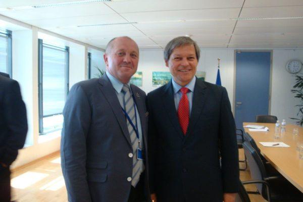 Z komisarzem Unii Europejskiej ds.rolnictwa irozowju obszarów wiejskich Dacianem Cioloșem